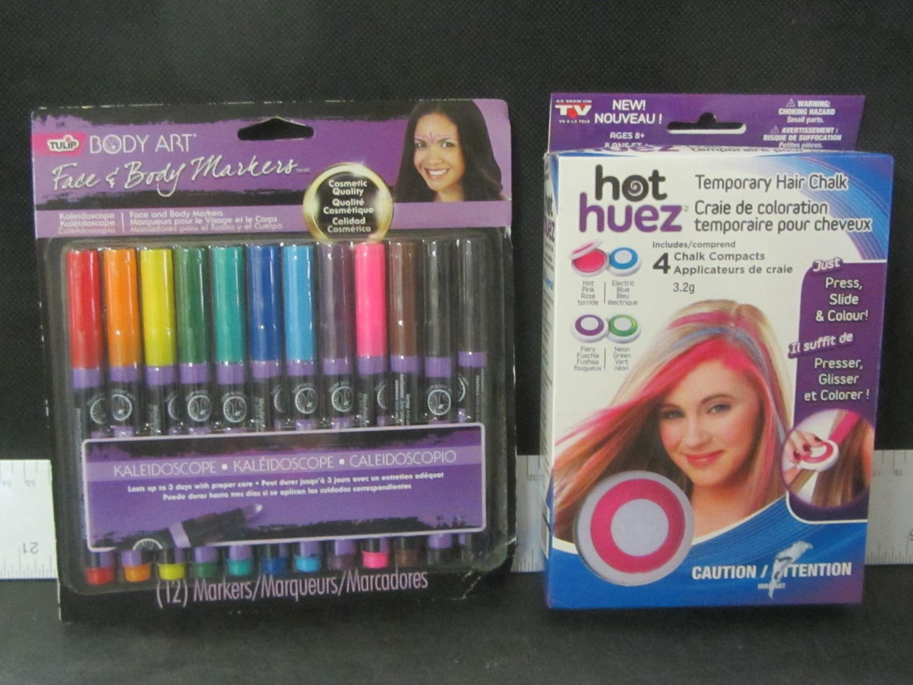 New Body Art Markers 4 Color Temporary Hair Chalk
