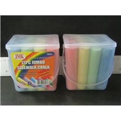 New Sidewalk Chalk / 2 packs of 12 each / dustless non toxic/ assorted colors