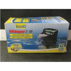 New Tetra Whisper 2-10 internal power filter / ideal for Reptiles too!