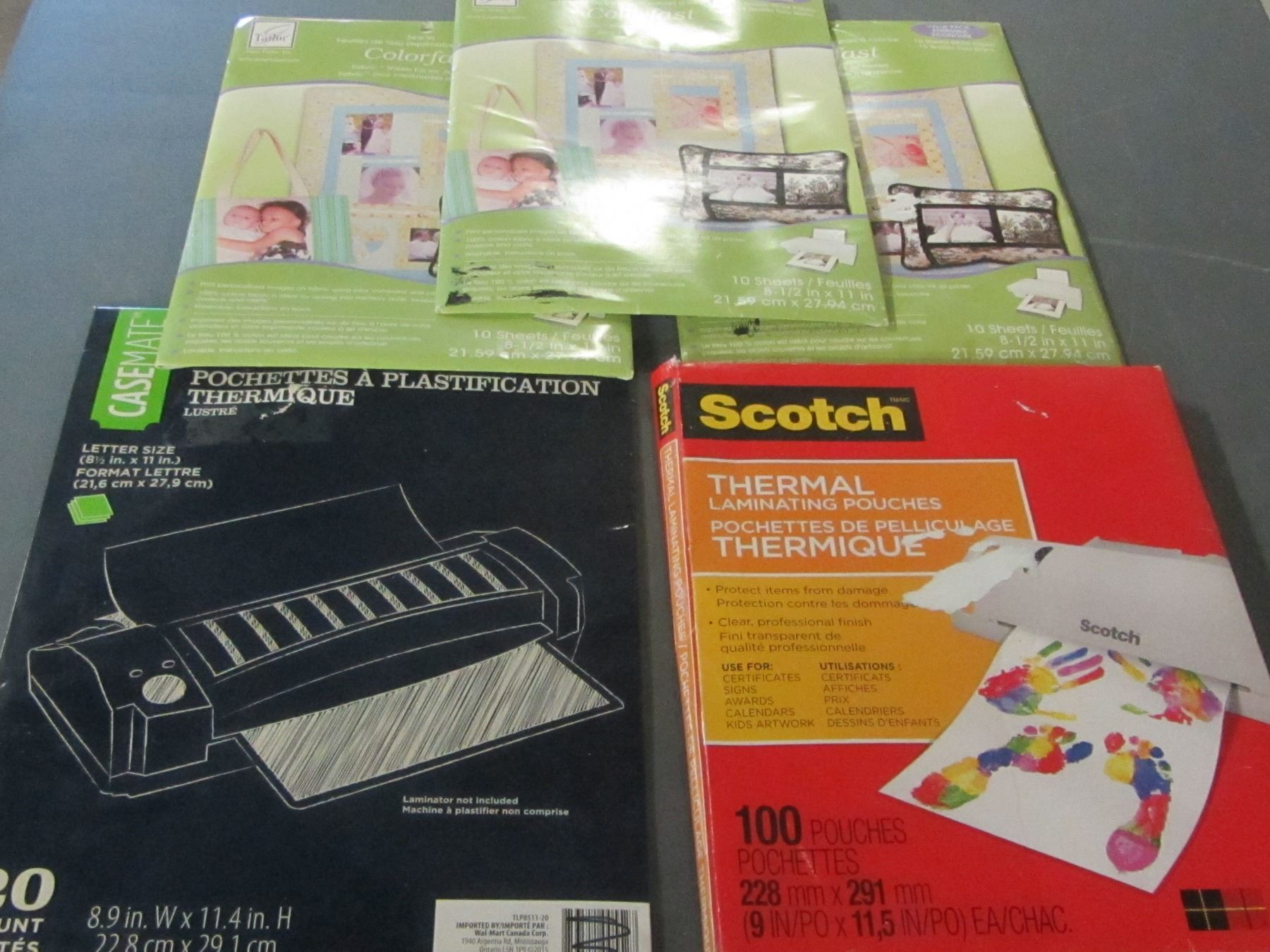 Lot of 5 Printer sheets / 3 packs of Fabric sheetsfor ink jet/ 2