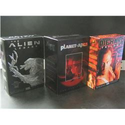 3 Movie Box Sets / Aliens - Planet of the Apes / Die Hard/ all cd's are there &