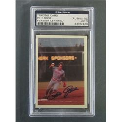 Pete Rose Hand Signed Baseball Card / Graded Authentic Autograph