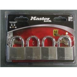 New set of 4 keyed alike Master Locks