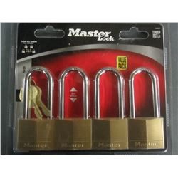 New set of 4 Master Locks all Keyed alike
