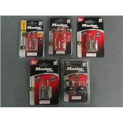 New Lot of 6 Luggage Master Locks / 2 are keyed & 4 are combination