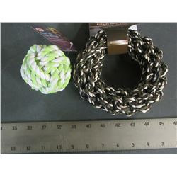 New Braided Rope Dog Toys / 1 Ball & 1 Hoop