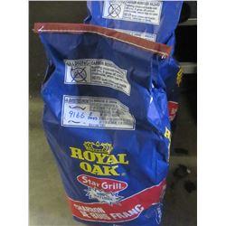 2 bags of Royal Oak Lump Charcoal / 1 bag has small hole
