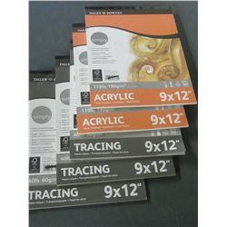 New Daler  Rowney 2 Acrylic 115lb  Art Paper & 3 Tracing 40lb