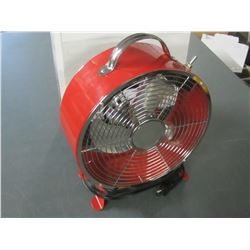 New 9 inch Retro Drum Fan with 2 speed settings / all Metal