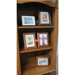 Qty 5 Small Framed Art - Vintage Photographs/Postcards