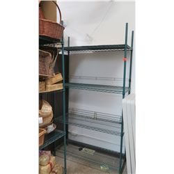 Green Stainless Steel Wire Shelving Unit