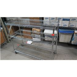 "NSF Rolling Stainless Steel Wire Shelving Unit (3 shelves) 48"" x 18"" x 38.5""H"