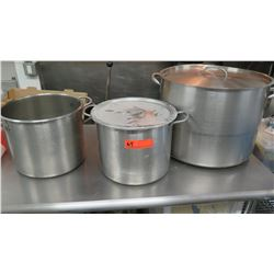 3 Large Vollrath Stock Pots