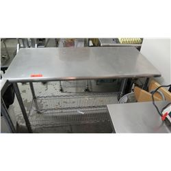 "Stainless Steel Prep Table w/Wire Undershelf 49.5"" x 24"" x 36""H"