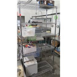 "Tall NSF Stainless Steel Wire Shelving Unit (5 shelves) 35.5"" x 18"" x 68""H"