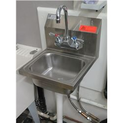 "Stainless Steel Hand Washing Sink, 12"" Wide, 13"" Depth"