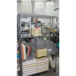 Large Lot of Cabros, Baking Pans, Lids, Lexons, etc.