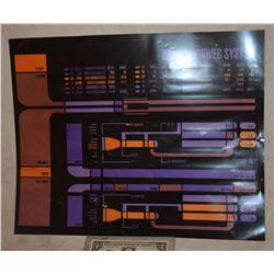 STAR TREK TNG STARSHIP ENTERPRISE SCREEN USED CONTROL PANEL B-GRADE 49
