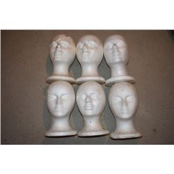 ZZ-CLEARANCE WIG FORM LOT OF 6 RARE FAT HEAD TYPE