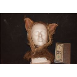GRIMM SCREEN USED WEREWOLF BEAST CREATURE COWL WITH EARS