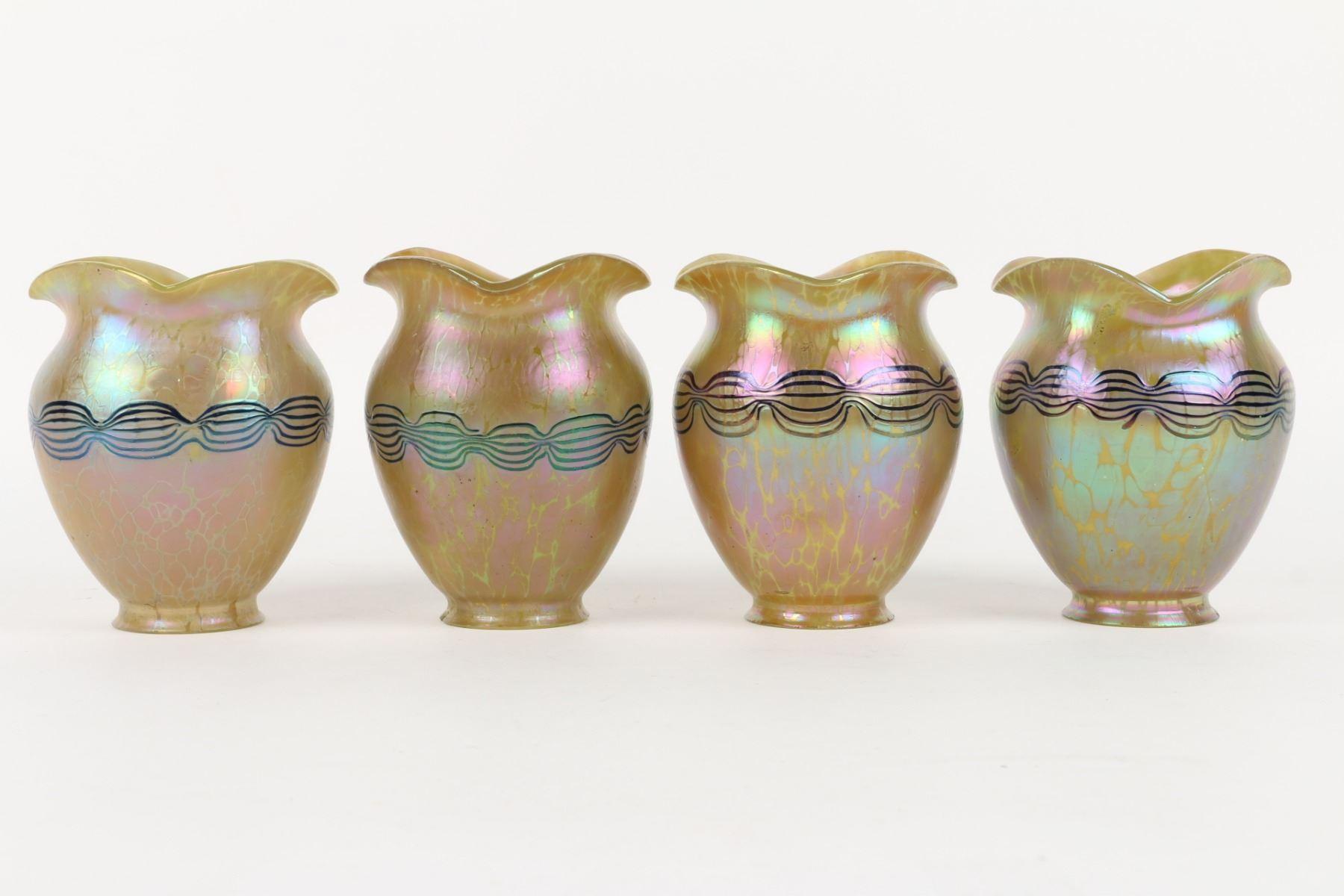 Loetz Art Glass Lamp Shades