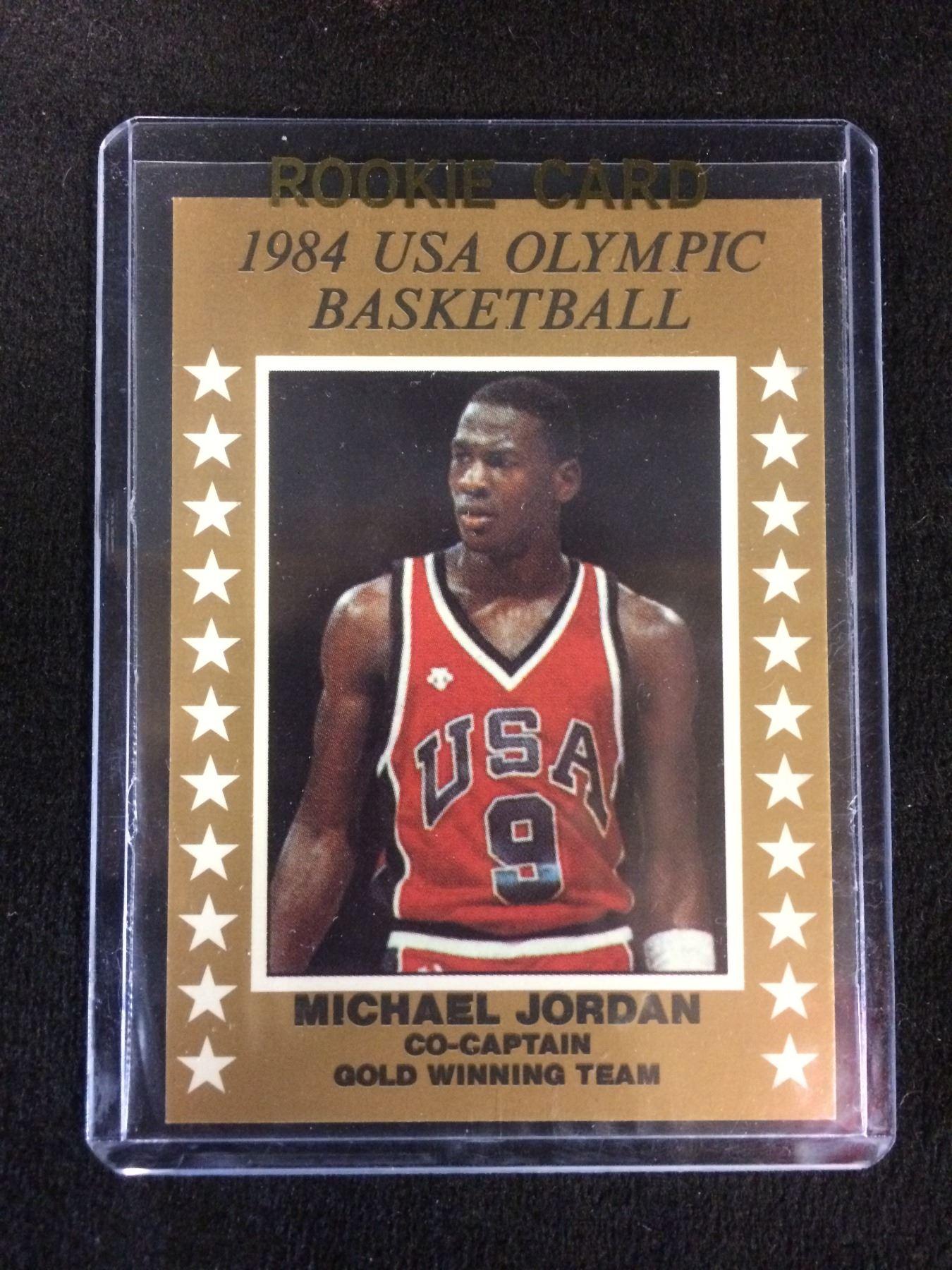 online retailer 05039 38391 1984 USA OLYMPIC BASKETBALL CO-CAPTAIN GOLD WINNING TEAM MICHAEL JORDAN