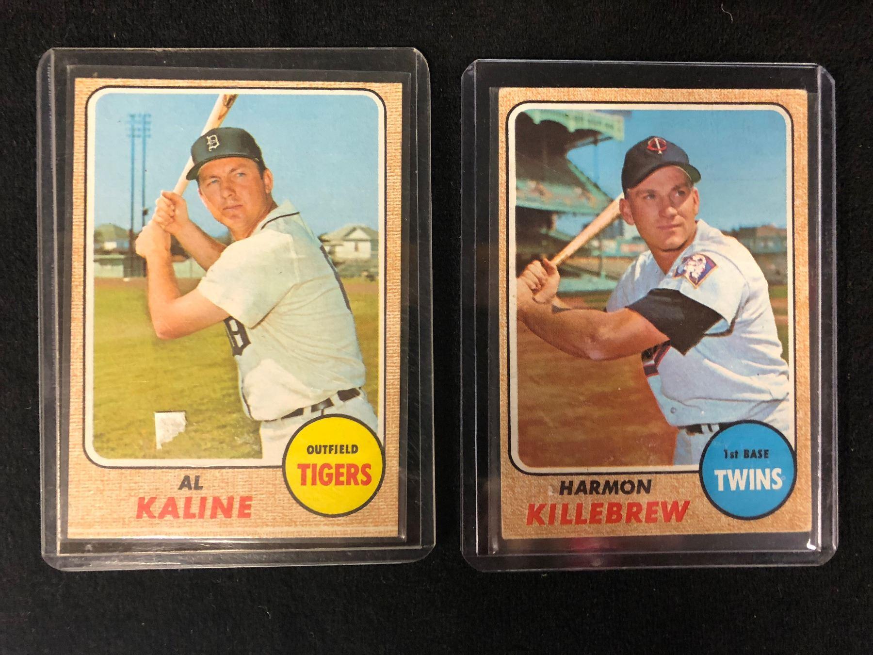 1968 Al Kaline 240 Topps Harmon Killebrew 220 Topps Baseball Cards