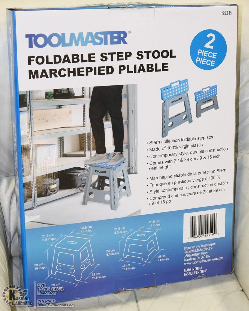 Stupendous Blue Toolmaster 2 Piece Foldable Step Stool Onthecornerstone Fun Painted Chair Ideas Images Onthecornerstoneorg