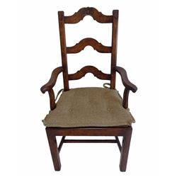 FRENCH LADDER BACK DINING ARM CHAIR - LOS ANGELES