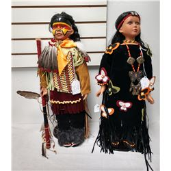 2 Large Native American Dolls