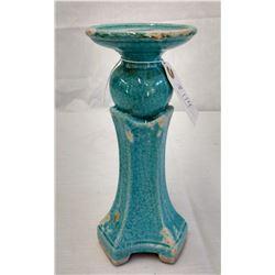 Chinese Blue Glazed Stand w/John Jordan COA