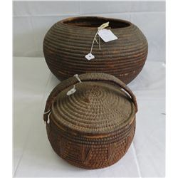 2 Large African Baskets