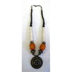 Necklace w/African Amber