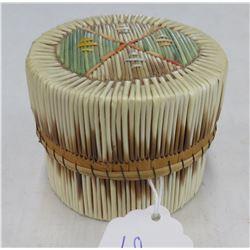 Birch Bark & Porcupine Quill Basket