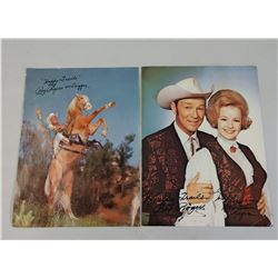 Autographed Roy Rogers Pictures
