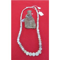 Pre-Columbian Necklace & Figure