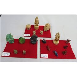 Collection of 17 Miniature Figures