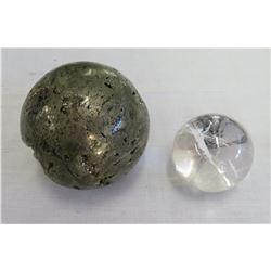 2 Stone Spheres