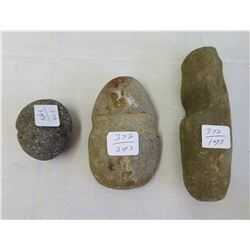 3 Grooved Chumash Stones