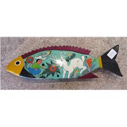 Mexican Painted Wood Fish