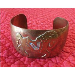 Mexican Copper & Abalone Cuff