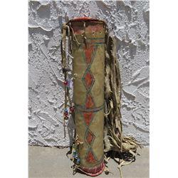 Eastern Plateau Parfleche Cylinder