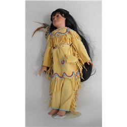 "16"" Native American Doll on Stand"