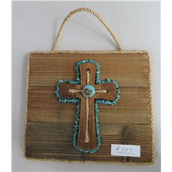 Wood Plaque & Cross