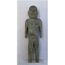 Olmec Green Stone Man w/Helm COA