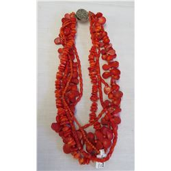 5-Strand Coral Necklace