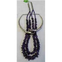 2 Necklaces w/Amethyst