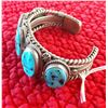 Image 3 : Navajo Sterling Silver & Turquoise Cuff