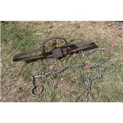 4 1/2 Wolf Antique Trap W/Drag Chain