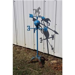 "Horse Weather Vane, Bottom, 33"" Tall, Arrow is 17"" Long"